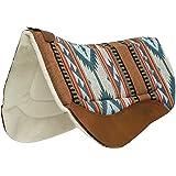 Weaver Leather 35-9307-H37 Contoured Saddle Pad - Merino Wool Fleece Lining,