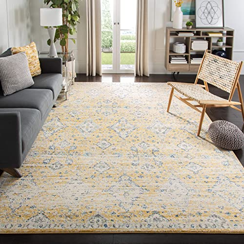 Safavieh Evoke Collection EVK224B Contemporary Bohemian Gold and Ivory Area Rug 9' x 12'