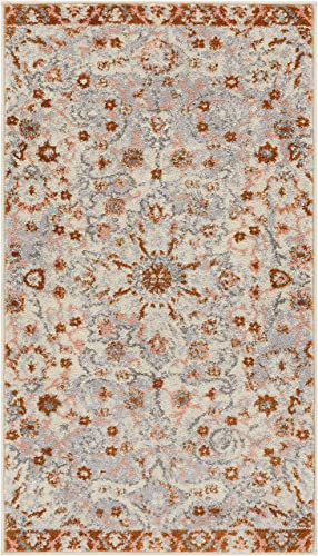 Well Woven Laurent Wonderly Modern Vintage Oriental Beige 2 3 x 3 11 Doormat Accent Area Rug