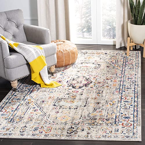 Safavieh Madison Collection MAD468F Grey and Blue Area 4 x 6 Rug