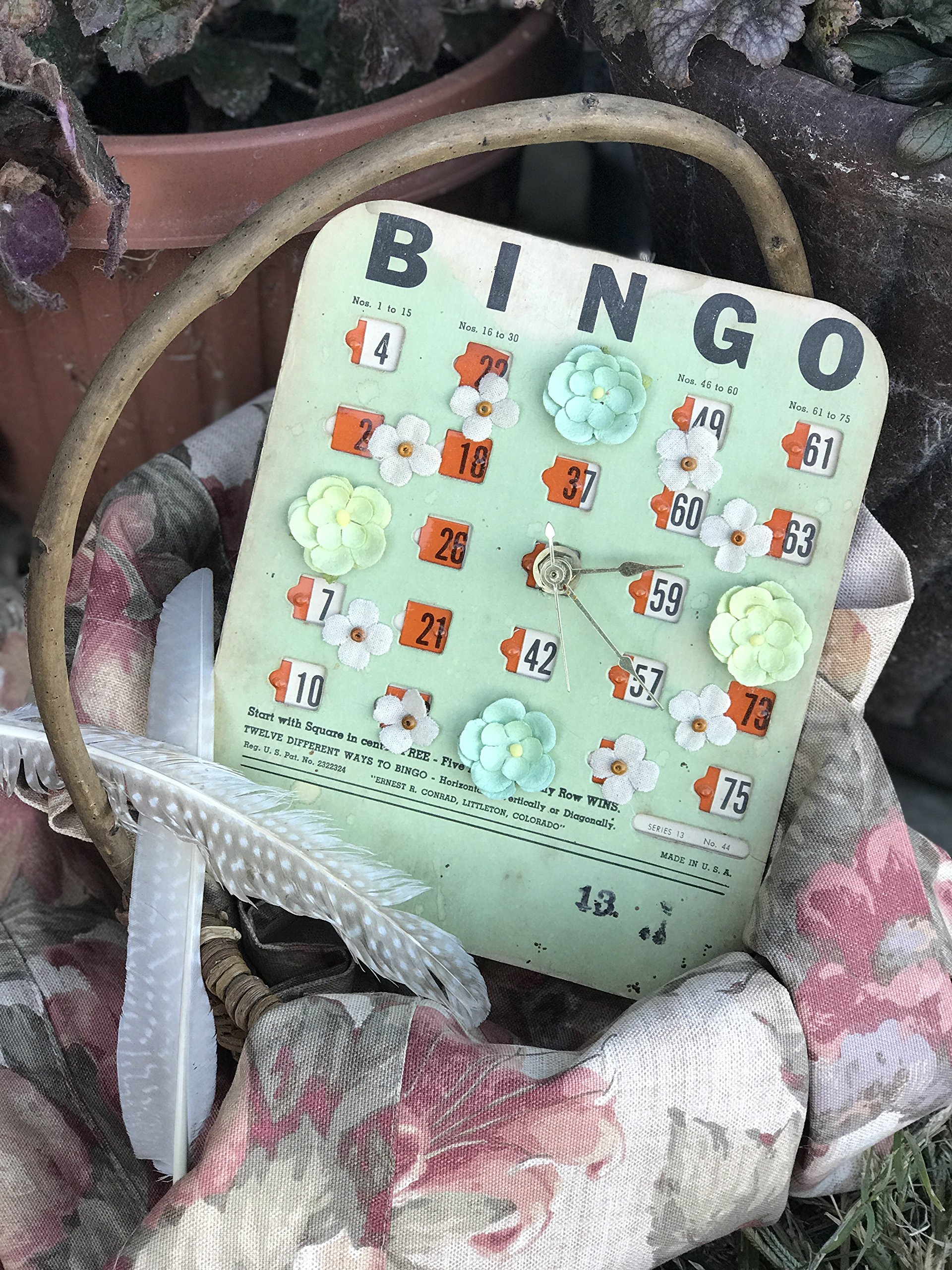 Green Bingo Clock by Sassypants Clocks