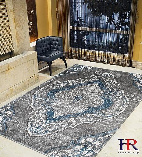 Amazon.com: Moderna alfombra con diseño de flores persas ...