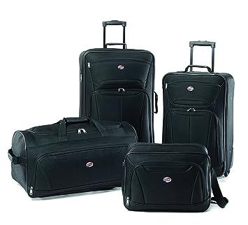 5349b789f Amazon.com | American Tourister Luggage Fieldbrook Ii 4 Pc Set, Black | Luggage  Sets