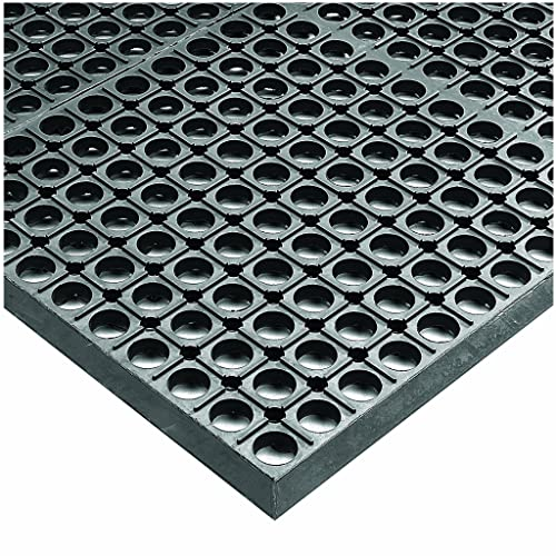 Wearwell Rubber 478 WorkSafe Heavy Duty Anti-Fatigue Mat, for Wet Areas, 3 Width x 20 Length x 1 2 Thickness, Gray