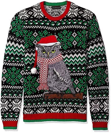 Red Owl Mens Crew Neck Hoodie Sweatshirt