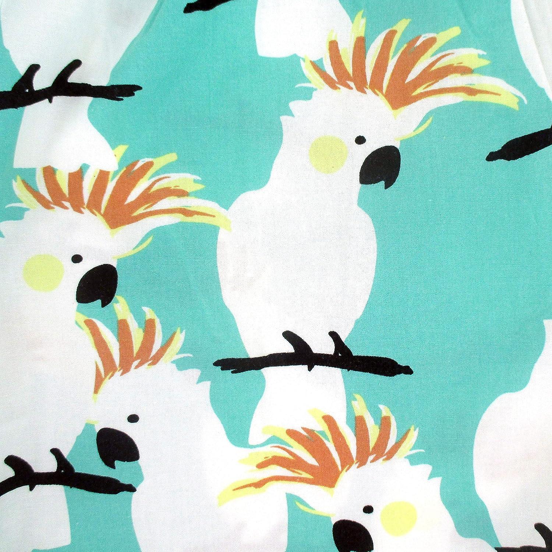 ROCK ATOLL Mens Fun Blue Green Cockatoo Parrot Print Cotton Boxer Shorts S-XXL