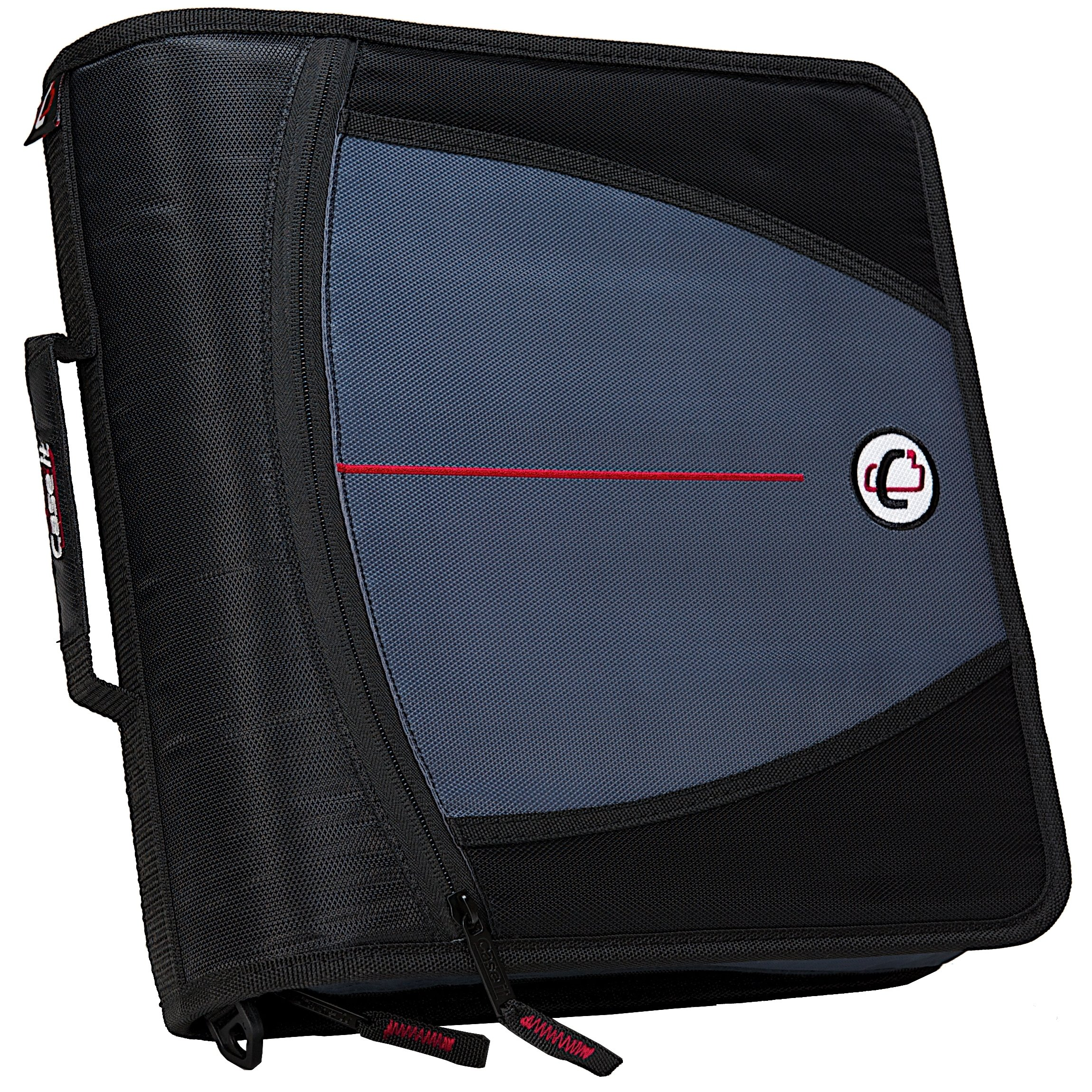 Case-it Mighty Zip Tab 3-Inch Zipper Binder, Black, D-146-BLK by Case it