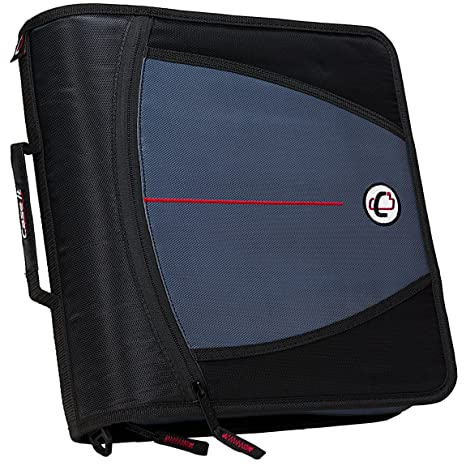 amazon com case it mighty zip tab 3 inch zipper binder black d