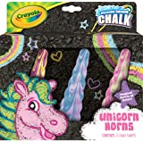 Crayola Uni-Chalk, Unicorn Horns, Tie-Dye Coloured Chalk, Magical Swirls of Colour, Outdoor Play, 3pk.