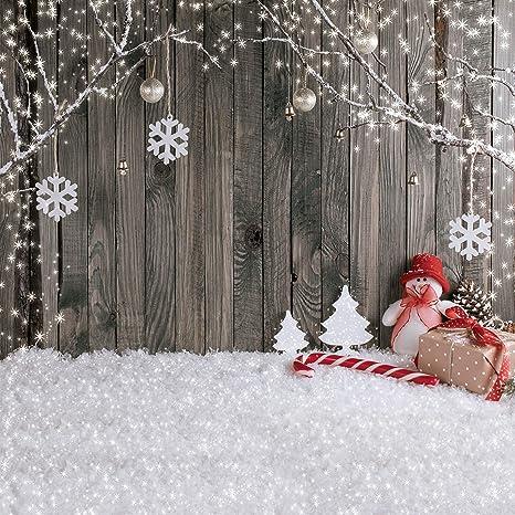 Sfondi Natalizi Eleganti.Lywygg 10x10ft Sfondo Natale Sfondo Natale Neve Pavimento Foto Sfondi Parete In Legno Fondali Fotografia Per Bambino Cp 70 1010
