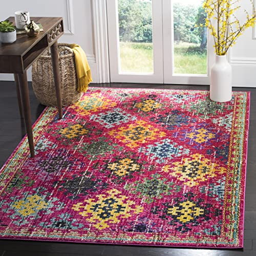 Safavieh Monaco Collection Area Rug, 8 x 10 , Fuchsia Multi