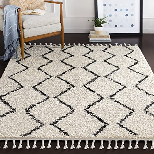 Armand Charcoal and Beige Bohemian Global Area Rug 3 11 x 5 7