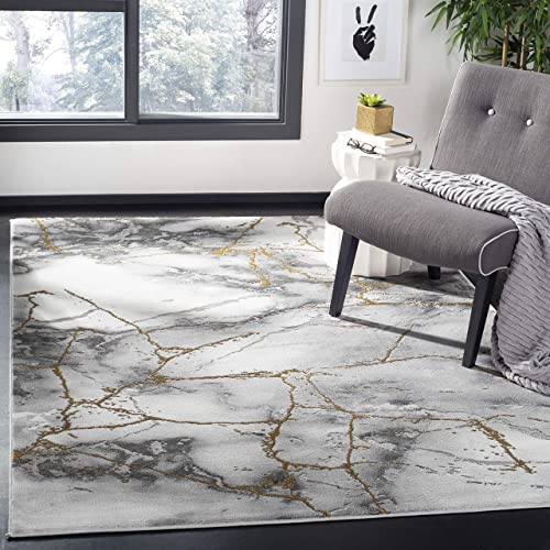 Safavieh Craft Collection CFT877F Grey and Gold 10 6 x 14 Area Rug, 10 6 x 14
