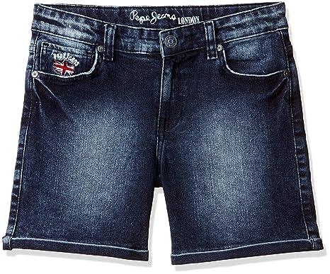 timeless design d16ba 1ac2b Pepe Jeans Girls' Slim Fit Cotton Shorts (PIGJ0003052 4_Mid ...