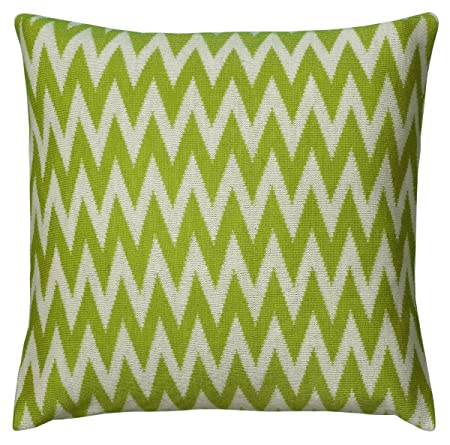 Rizzy Home Decorative Poly Filled Throw Pillow, 20 x 20 , Lime