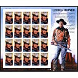 John Wayne, Legends Of Hollywood, Full Sheet of 20 x 37-Cent Postage Stamps, USA 2004, Scott 3876
