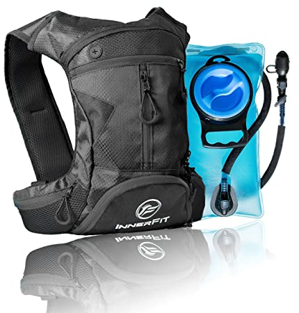 InnerFit Hydration Backpack and Water Bladder, Durable Camel Backpack Hydration Pack – Running, Hiking, Biking and Outdoor Activities – Lightweight Water Backpack