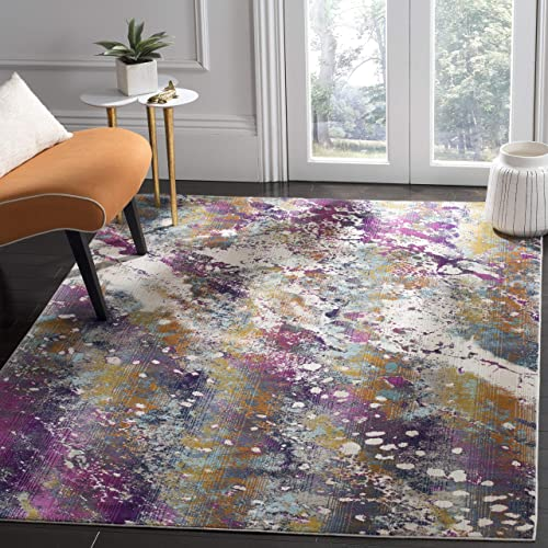 Safavieh Radiance Collection RAD111A Abstract Boho Non-Shedding Stain Resistant Living Room Bedroom Area Rug - a good cheap living room rug