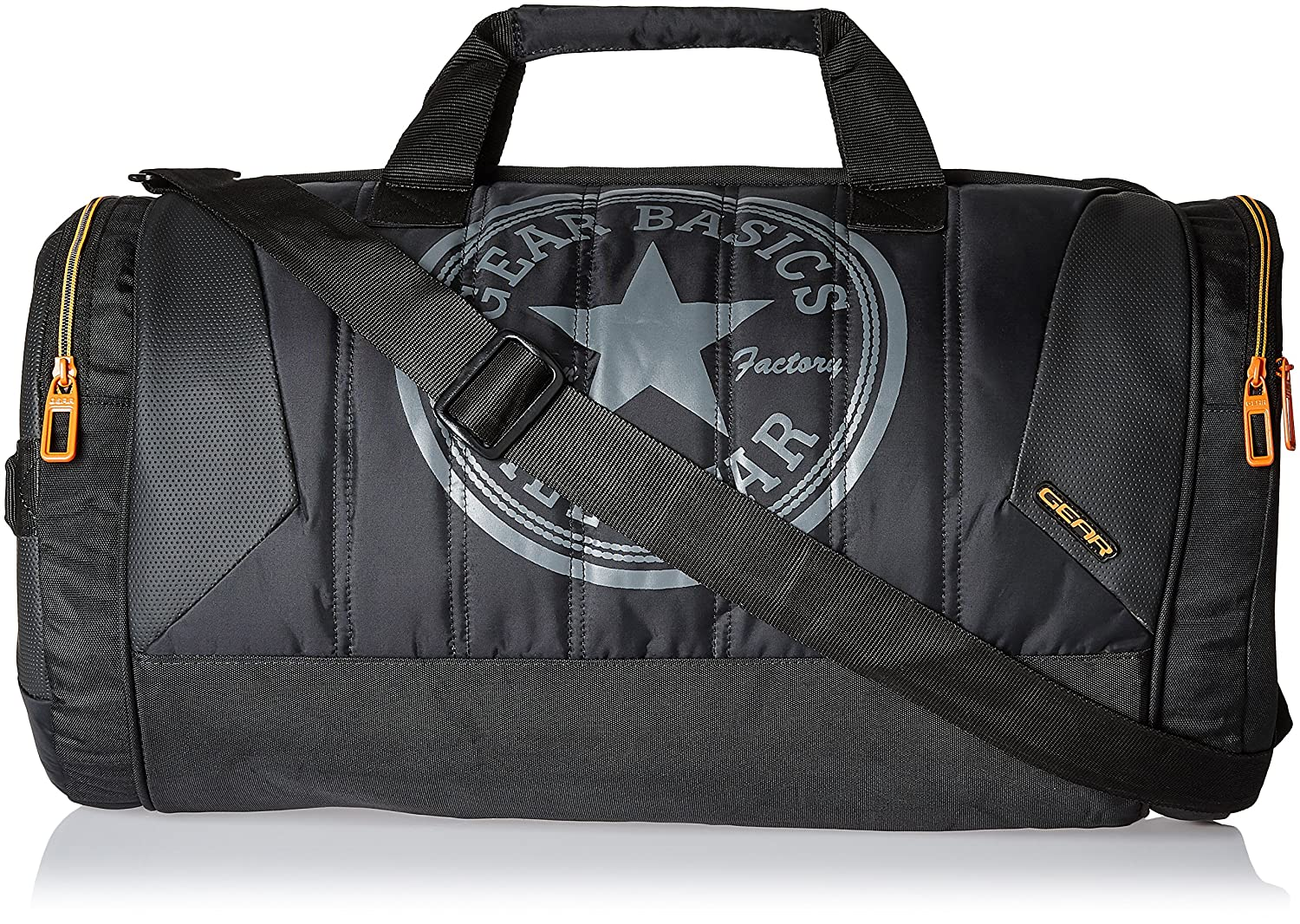 Gear Polyester 47 cms Black and Orange Travel Duffel (METDFPRO20106)   Amazon.in  Bags, Wallets   Luggage 85f3a0696a