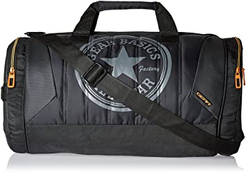 Image Unavailable. Image not available for. Colour  Gear Polyester 47 cms  Black and Orange Travel Duffel ... da7219b9ef