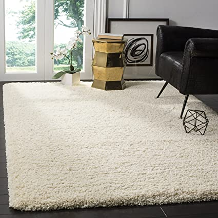 Safavieh California Premium Shag Collection SG151 1212 Ivory Area Rug (8u0027 X  10