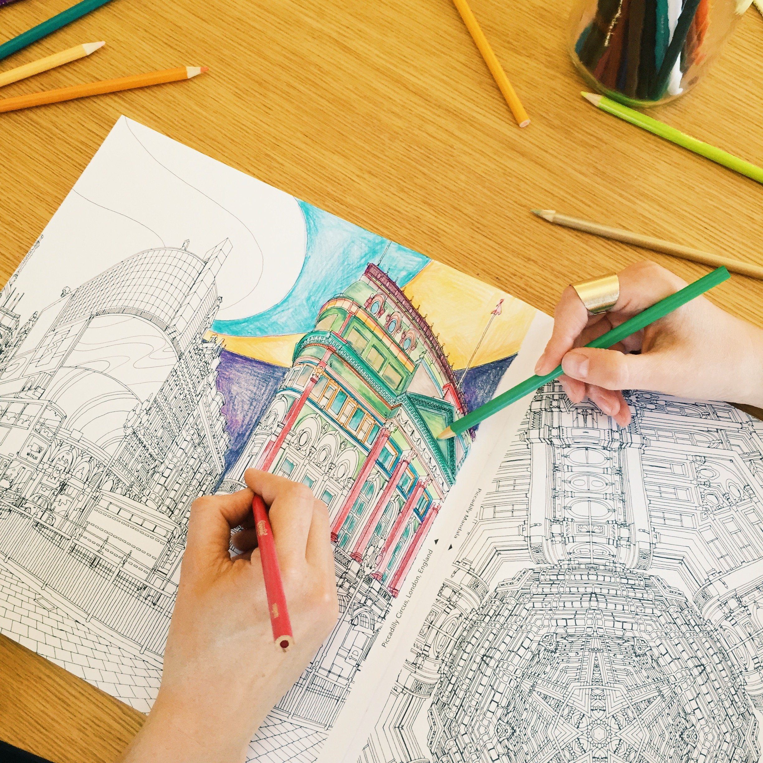 Colouring books for adults melbourne - Buy Fantastic Cities A Coloring Book Of Amazing Places Real And Imagined Book Online At Low Prices In India Fantastic Cities A Coloring Book Of Amazing