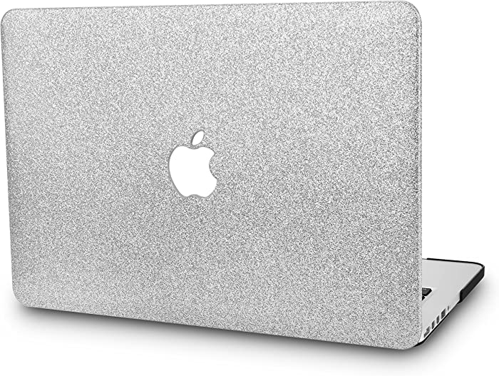 "KECC Laptop Case for MacBook Pro 13"" (2020/2019/2018/2017/2016) Plastic Hard Shell Cover A2289/A2251/A2159/A1989/A1706/A1708 Touch Bar (Silver Sparkling)"