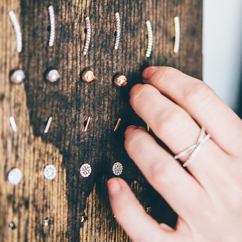 PAVOI Rastreador de oreja chapado en oro de 14K Pendientes de pu/ño Chaquetas de escalador de oreja de plata esterlina hipoalerg/énicas para mujer