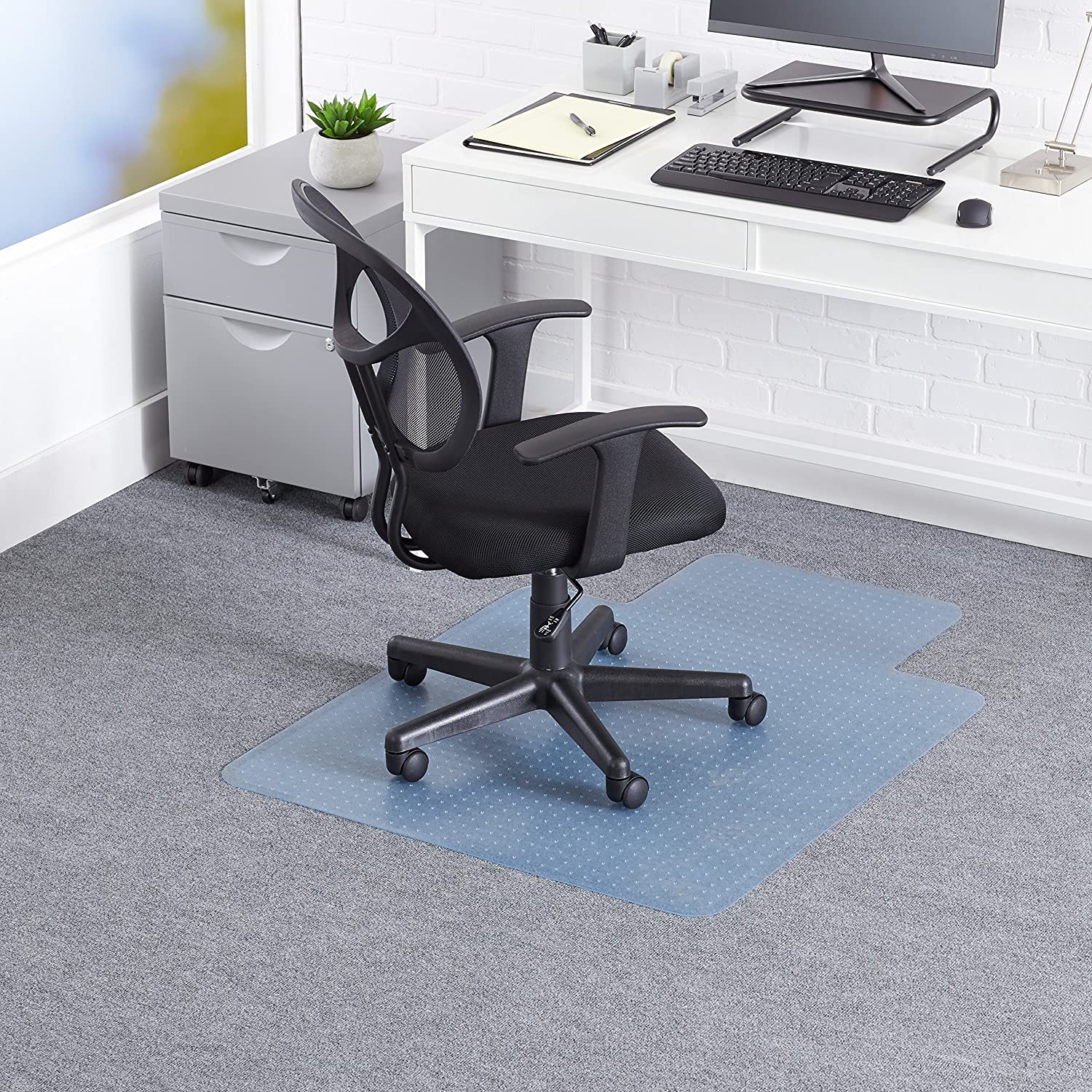 Amazon AmazonBasics Carpet Chair Mat 47in x 35in fice
