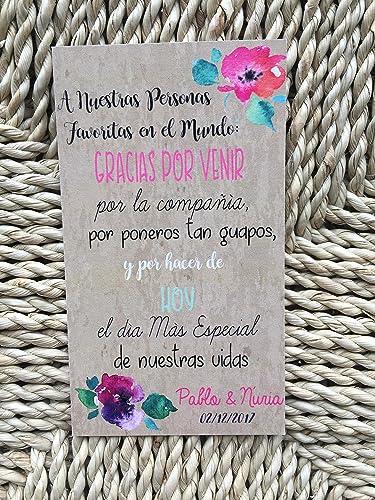 tarjetas de agradecimiento para bodas gracias por venir 50 unidades
