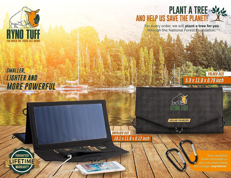 Amazon.com: Ryno Tuff - Cargador solar plegable de 21 W con ...