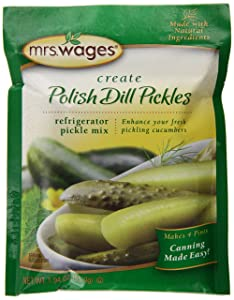 Mrs. Wages Polish Refrigerator Pickle Mix, 12 - 1.9-Ounce Pouches