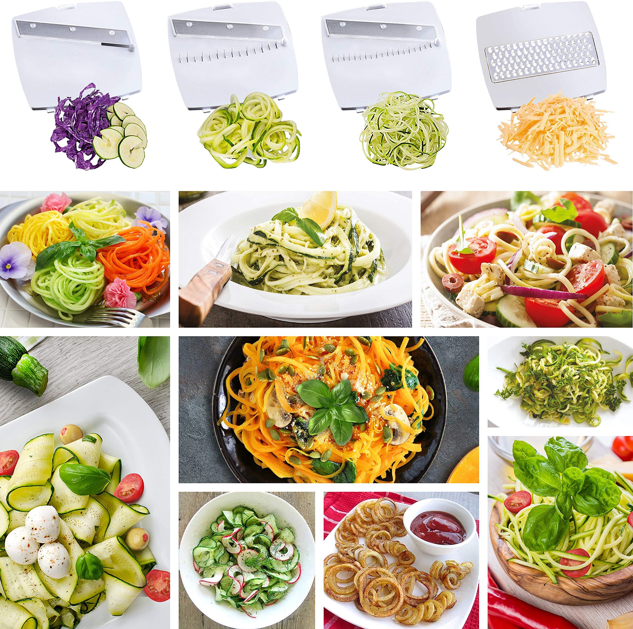 Mueller Spiral-Ultra Multi-Blade Spiralizer, 8 into 1 Spiral Slicer, Heavy Duty Salad Utensil, Vegetable Pasta Maker and Mandoline Slicer for Low Carb/Paleo/Gluten-Free Meals by Mueller (Image #7)
