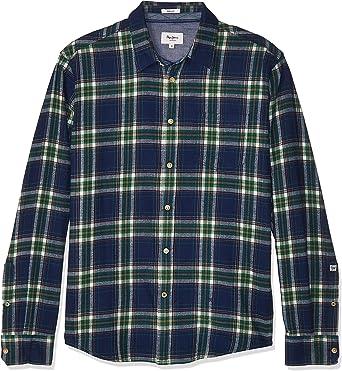 Camisa Pepe Jeans Maxwell Cuadros Azul Hombre: Amazon.es: Ropa y accesorios