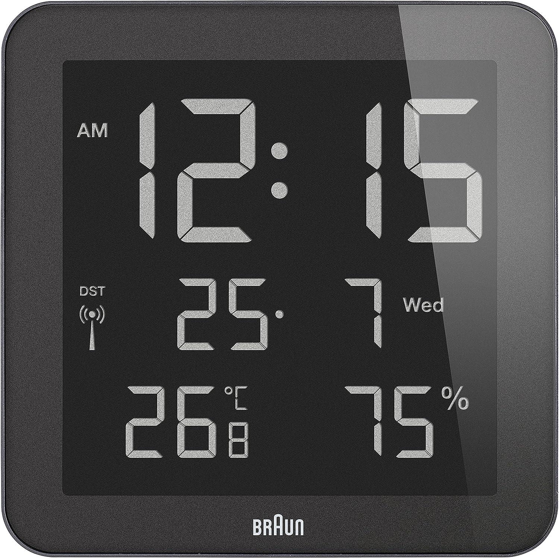 Amazon braun digital global radio controlled walldesk clock amazon braun digital global radio controlled walldesk clock black home kitchen amipublicfo Images
