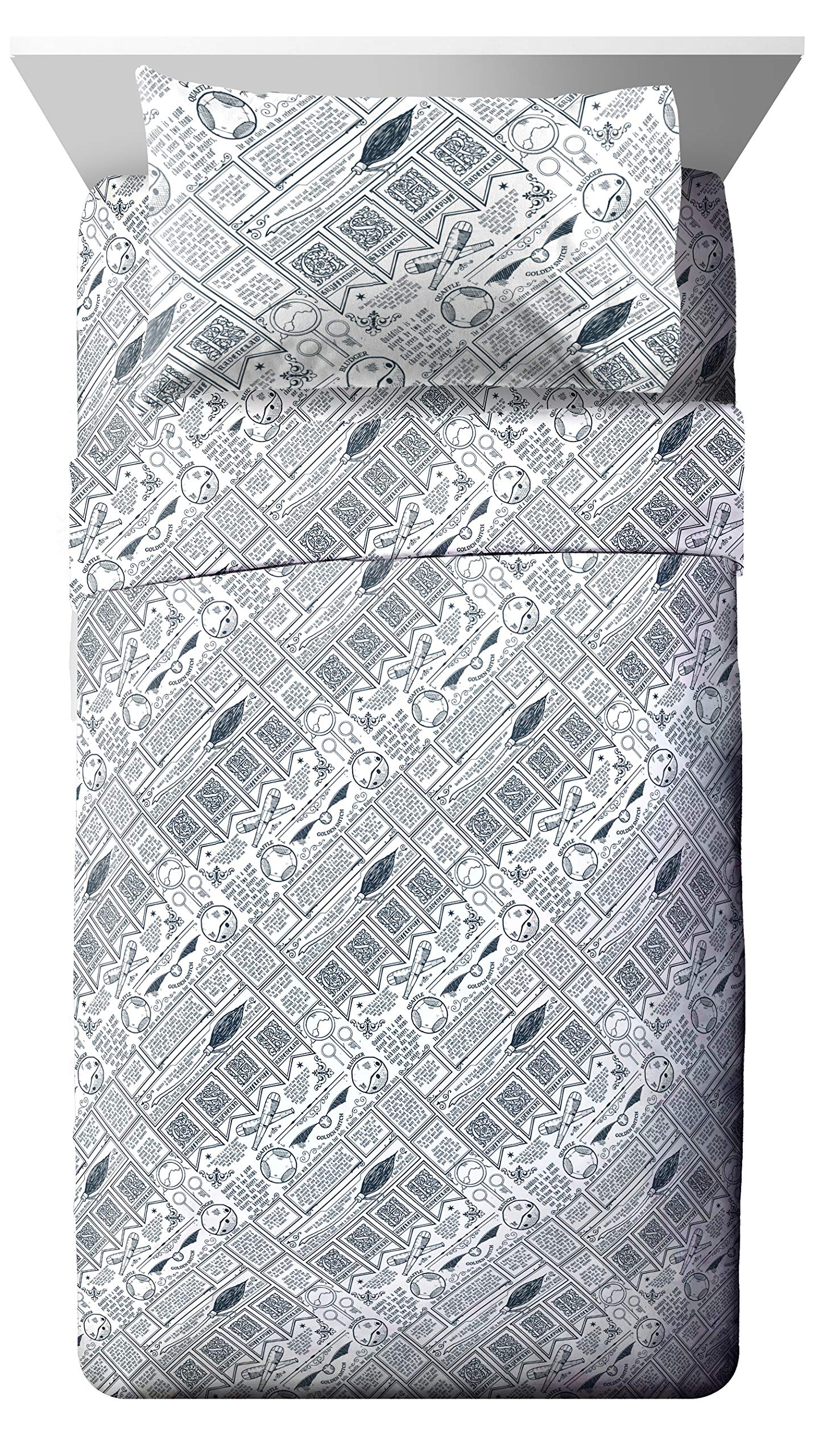 Jay Franco Harry Potter Draco Dormiens Full Sheet Set - 4 Piece Set Super Soft and Cozy Kid's Bedding - Fade Resistant Polyester Microfiber Sheets (Official Harry Potter Product)