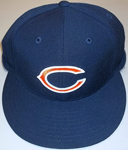 e8bb53657 Amazon.com   Chicago Bears Fitted Hat By Reebok TR88K (7 1 8 ...