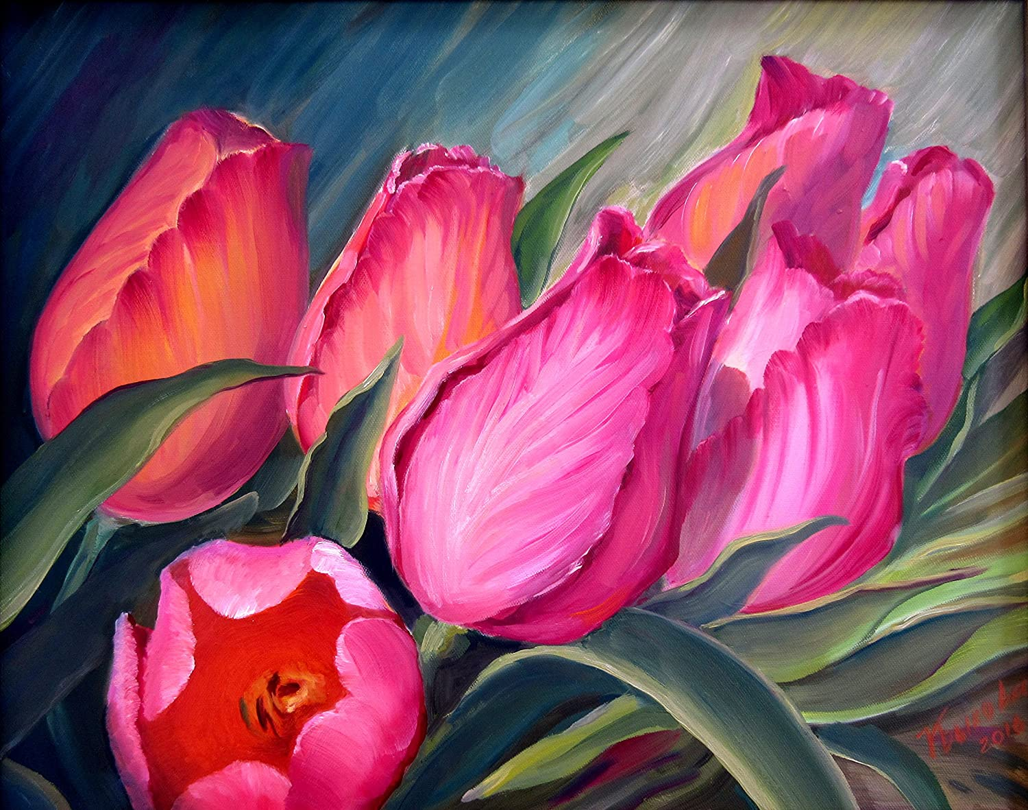 Art Floral Painting Art Home Decor Paintings of Flowers Still life Painting