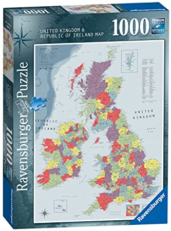 Map Of Uk 1000.Ravensburger British Isles Map 1000pc Jigsaw Puzzle