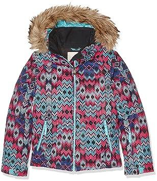 Roxy ERJTJ03053-KVJ9_S, Chaqueta de Nieve Para Niñas, Multicolor (mlr2) ,