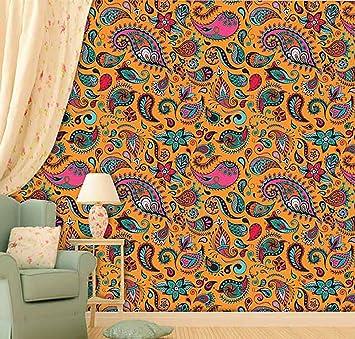 PRINTELLIGENT Peel And Stick Self Adhesive Wallpaper For Home Decor Vinyl 55 Sq Ft Multicolour Amazonin Improvement