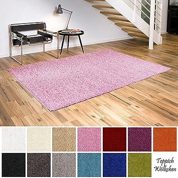 Teppich Wölkchen Shaggy-Teppich | Flauschige Hochflor Teppiche für  Wohnzimmer Küche Flur Schlafzimmer oder Kinderzimmer | Einfarbig, ...