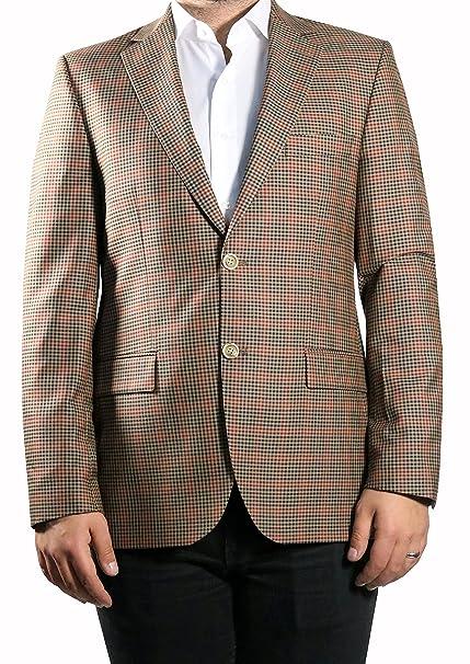 MUGA Hombre Blazer Glen Check Chaqueta marrón Cuadros Braun Karriert 54: Amazon.es: Ropa y accesorios