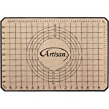 Artisan Silicone Baking Mat for 2/3 Size Cookie Sheet with Pastry Guide, 18.75 x 13 inches