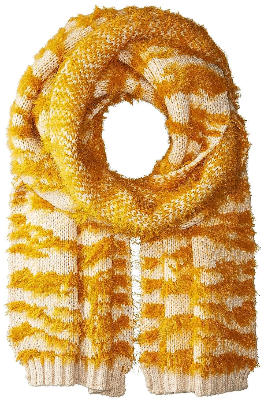 BCBGMAXAZRIA Women's Textured Animal Knit Muffler Dusk One Size BG954705