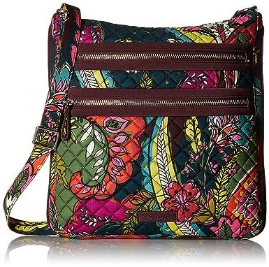 Vera Bradley Iconic Triple Zip Hipster (Water Bouquet) Handbags rVbWm