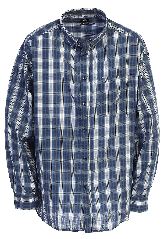 Gioberti Mens Long Sleeve Plaid Big /& Tall Shirt
