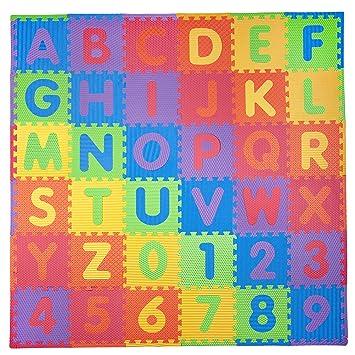 Alphabet /& Numbers Soft Playmat 36 Piece Eva Foam Baby Children Kids Play Mat