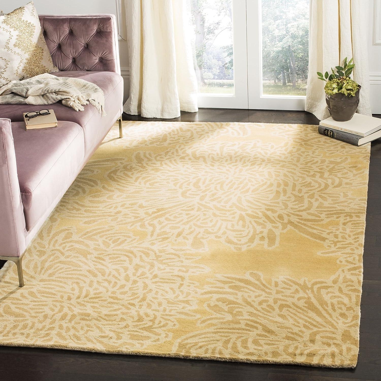 Amazon Com Safavieh Martha Stewart Collection Msr4542a Handmade Chrysanthemum Wool Area Rug 8 X 10 Malted Furniture Decor