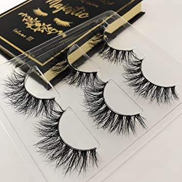 2e0ec64ad70 Amazon.com : The Book of Lashes Volume 3: Majestic - Real Mink - Reusable  False Eyelashes - Cruelty Free - 3 Pairs : Beauty
